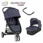 Baby Jogger City Mini 2 2 piezas dúo 3 ruedas Carbon