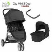Baby Jogger City Mini 2 - 2 piezas dúo 3 ruedas Jet