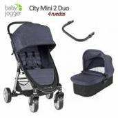 Baby Jogger City Mini 2 - 2 piezas dúo 4 ruedas Carbon