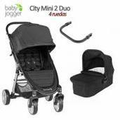 Baby Jogger City Mini 2 - 2 piezas dúo 4 ruedas Jet