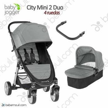 Baby Jogger City Mini 2 - 2 piezas dúo 4 ruedas Slate