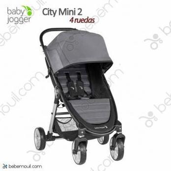Silla de paseo Baby Jogger City Mini 2 - 4 ruedas Slate