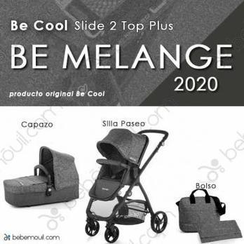 Cochecito de bebé Be Cool Slide 2 Top Plus Duo Be Melange
