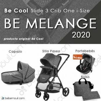 Cochecito de bebé Be Cool Slide 3 Crib One i-Size Trío Be Melange