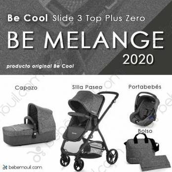 Cochecito de bebé Be Cool Slide 3 Top Plus Zero Trío Be Melange