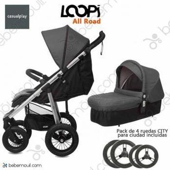Cochecito de bebé Casualplay Loopi Allroad Match 2 Duo Panther