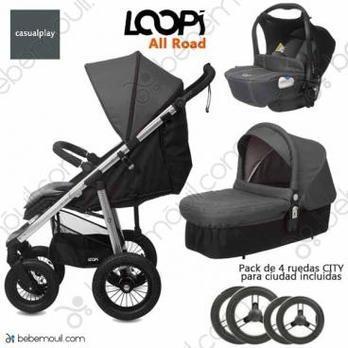Cochecito de bebé Casualplay Loopi Allroad Match 3 Trio Panther