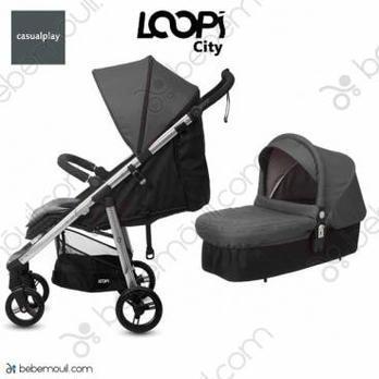 Cochecito de bebé Casualplay Loopi City Match 2 Duo Panther
