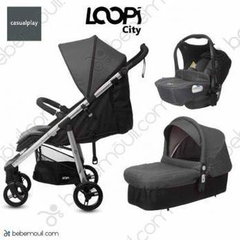 Cochecito de bebé Casualplay Loopi City Match 3 Trio Panther