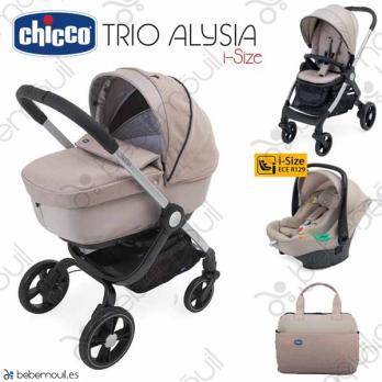 Cochecito de bebé Chicco Alysia i-Size Trio Sand