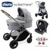 Cochecito de bebé Chicco Best Friend Pro Trio Silverleaf