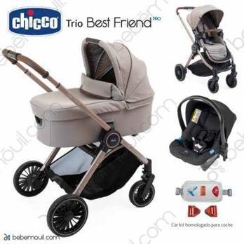 Cochecito de bebé Chicco Best Friend Pro Trio Desert Taupe