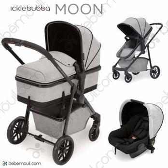 Ickle Bubba Moon 3 piezas trío Silver Grey