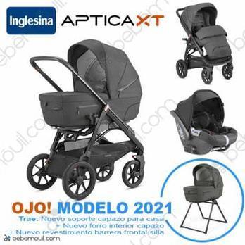 Cochecito de bebé Inglesina Aptica XT Quattro Trio Charcoal Grey