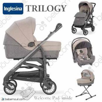 Cochecito de bebé Inglesina Trilogy Quattro Trio Bermuda Beige City Ardesia