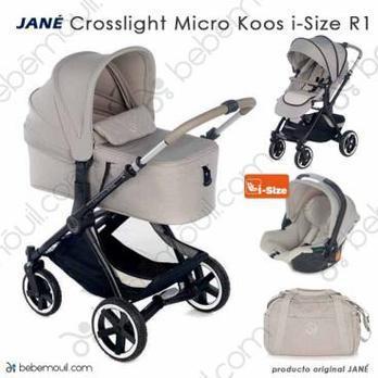 Jané Crosslight 3 piezas trío Micro Koos i-Size R1 Sand