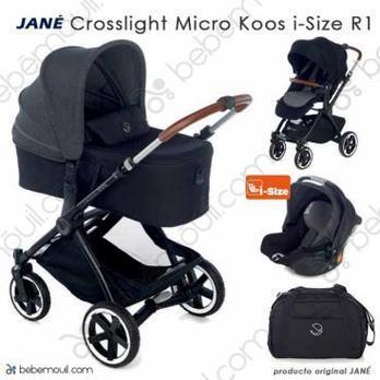 Jané Crosslight 3 piezas trío Micro Koos i-Size R1 Cold Black