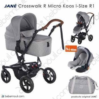Jané Crosswalk R 3 piezas trío Micro Koos i-Size Dim Grey