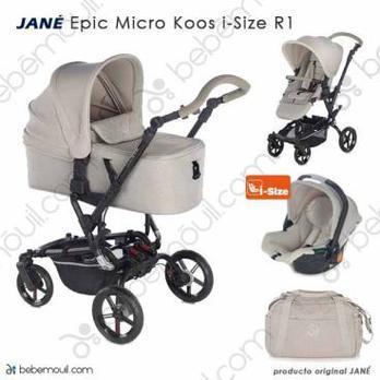 Jané Epic 3 piezas trío Micro Koos i-Size R1 Sand