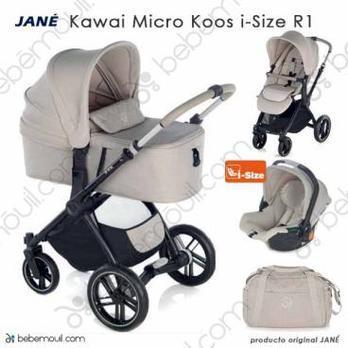 Jané Kawai 3 piezas trío Micro Koos i-Size R1 Sand
