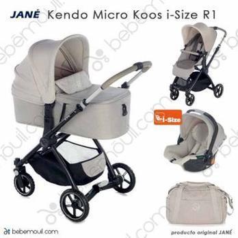Jané Kendo 3 piezas trío Micro Koos i-Size R1 Sand