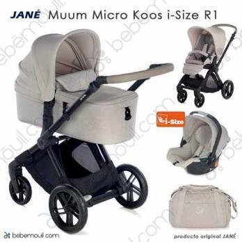 Jané Muum 3 piezas trío Micro Koos i-Size R1 Sand