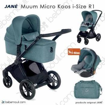 Jané Muum 3 piezas trío Micro Koos i-Size R1 Mild Blue