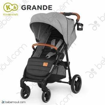Silla de paseo Kinderkraft Grande Gray