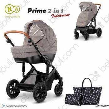 Cochecito de bebé Kinderkraft Prime 2 in 1 Duo Beige