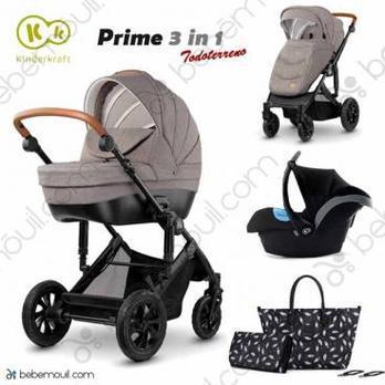 Cochecito de bebé Kinderkraft Prime 3 in 1 Trio Beige