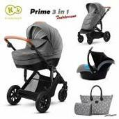 Cochecito de bebé Kinderkraft Prime 3 in 1 Trio Grey