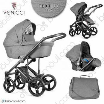 Cochecito de bebé Venicci Asti 3 in 1 Trio Graphite