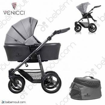 Cochecito de bebé Venicci Carbo 2 in 1 Duo Natural Grey Lux