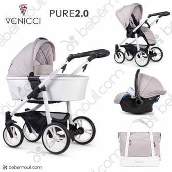 Venicci Pure 2.0 3 piezas trío Vanilla