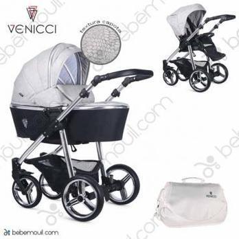 Cochecito de bebé Venicci Silver 2 in 1 Duo Wild Grey