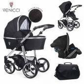 Cochecito de bebé Venicci Silver 3 in 1 Trio Wild Black