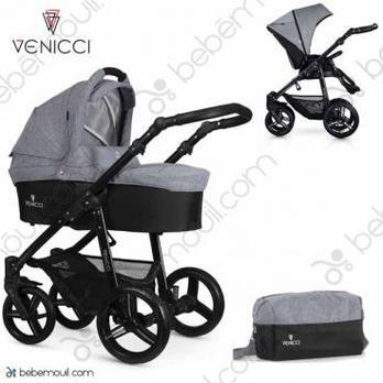 Cochecito de bebé Venicci Soft 2 in 1 Duo Med Grey Black