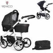 Cochecito de bebé Venicci Soft 2 in 1 Duo Black White