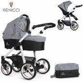 Cochecito de bebé Venicci Soft 2 in 1 Duo Med Grey White