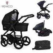 Cochecito de bebé Venicci Soft 3 in 1 Trio Black