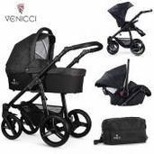 Cochecito de bebé Venicci Soft 3 in 1 Trio Denim Black